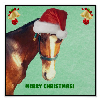 Equestrian Christmas Horse Posters