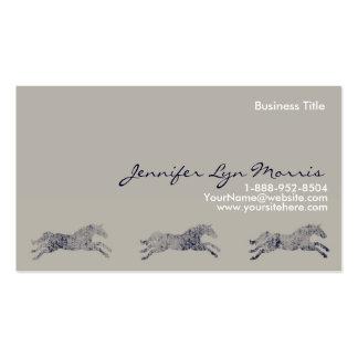 Equestrian clásico tarjetas de visita