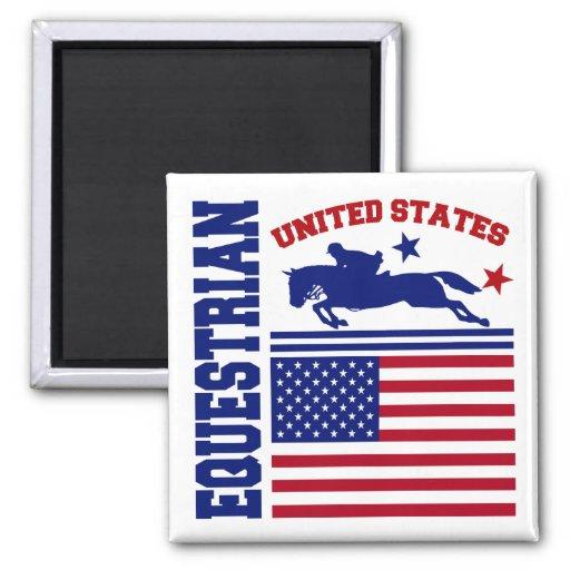 Equestrian de Estados Unidos Imán Cuadrado