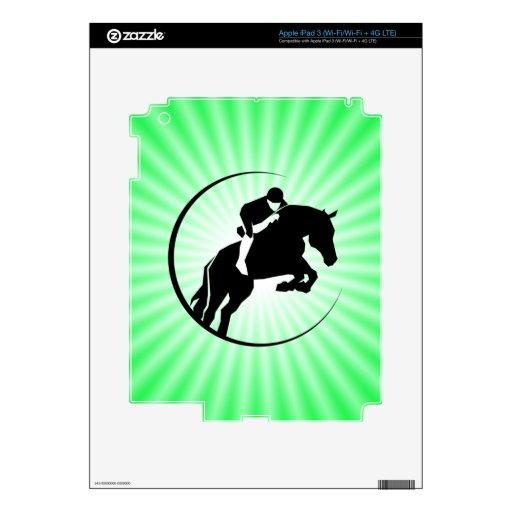 Equestrian de la verde lima iPad 3 pegatinas skins