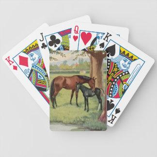Equestrian del caballo del potro del potro de la y baraja de cartas bicycle