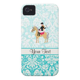Equestrian del damasco del trullo Case-Mate iPhone 4 fundas
