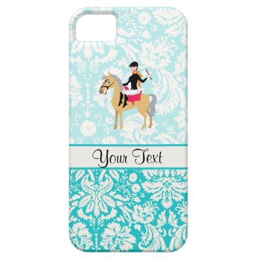 Equestrian del damasco del trullo iPhone 5 protector