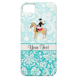 Equestrian del damasco del trullo iPhone 5 funda