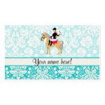 Equestrian del damasco del trullo tarjetas de visita