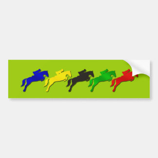 Equestrian dressage and show jumping horse car bumper sticker