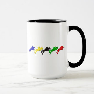 Equestrian dressage and show jumping horse mug