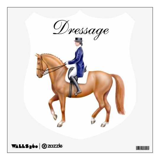 Equestrian Dressage Crest Wall Decal