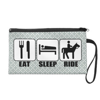 Equestrian (EAT SLEEP RIDE) a Horse Rider's Clutch
