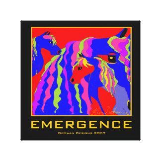 Equestrian Emergence Wrapped Canvas Canvas Prints