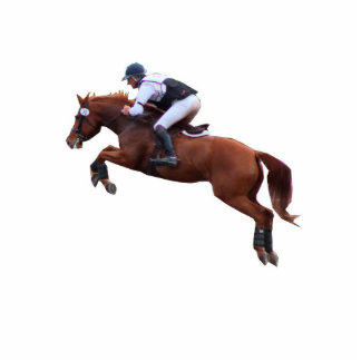 Equestrian Eventing Standing Photo Sculpture