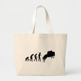 Equestrian evolution from man to horseback tote bags