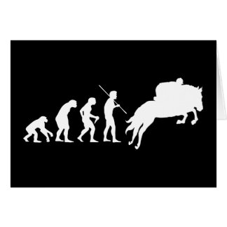 Equestrian Evolution from Man to Horseback Greeting Card