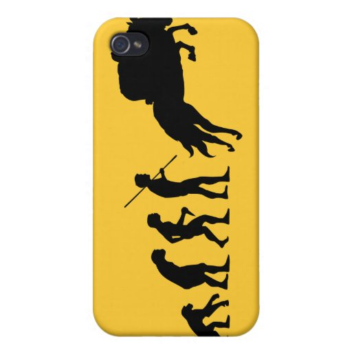 Equestrian evolution from man to horseback cover for iPhone 4
