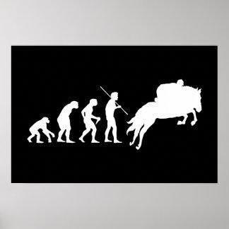 Equestrian Evolution from Man to Horseback Poster