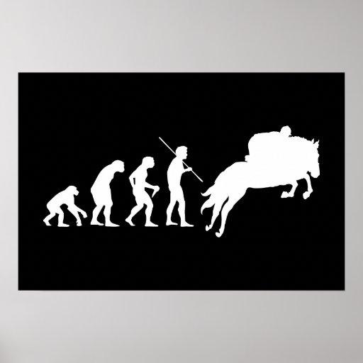Equestrian Evolution from Man to Horseback Print