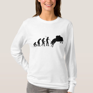 Equestrian evolution from man to horseback T-Shirt