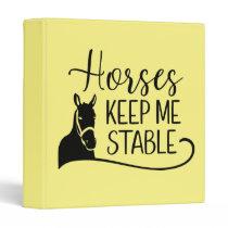 Equestrian Gift Horseback Riding Western  Horse 3 Ring Binder