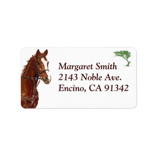 Equestrian Horse Address Label