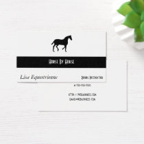 Equestrian Horse Business Card