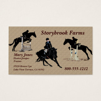 Equestrian Horse Business Cards