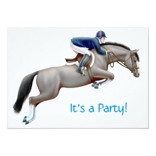 Equestrian Horse Jumper Invitation