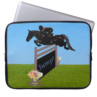 Equestrian Horse Jumper Laptop Sleeve