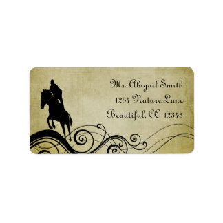 Equestrian Horse Jumping Address Label