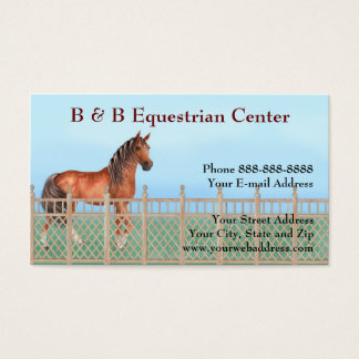 Equestrian Horse Ranch Business Card