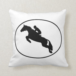 Equestrian Horse Silhouette Oval Pillows