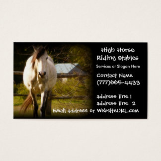 Horse boarding business cards templates zazzle equestrian horse stables or boarding business card yadclub Choice Image