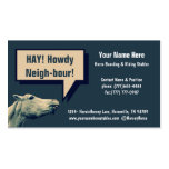 Equestrian Horse Stables or Boarding Business Card Template