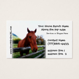 Equestrian Horse Stables or Boarding Business Card