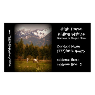 Equestrian Horse Stables or Boarding Double-Sided Standard Business Cards (Pack Of 100)