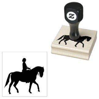 Equestrian Horseback Riding Design Wooden Stamp