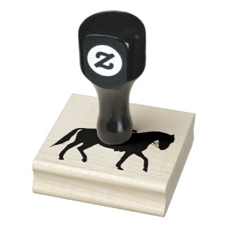 Equestrian Horseback Riding Design Wooden Stamp