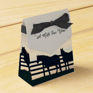 Equestrian Horses at the Pasture Fence Party Favor Boxes