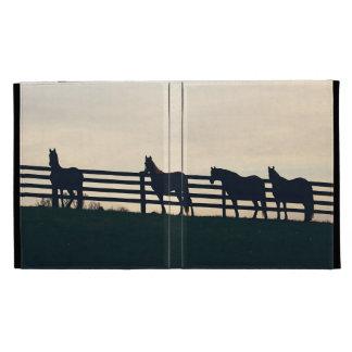 Equestrian Horses at the Pasture Fence iPad Folio Case