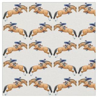 Equestrian Hunter Jumper Horse Fabric