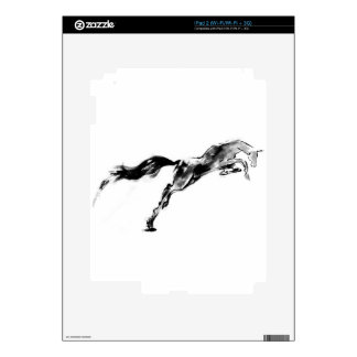 Equestrian japonés del sumi del arte del caballo calcomanía para el iPad 2