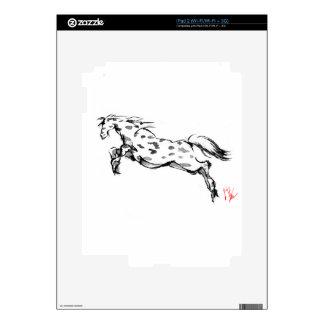 Equestrian japonés del sumi del arte del caballo iPad 2 calcomanía