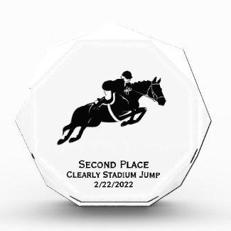 Equestrian Jump Acrylic Award