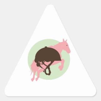 Equestrian Jump Triangle Sticker