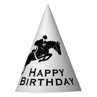 Equestrian Jumper Happy Birthday Party Hat