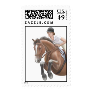 Equestrian Jumper Horse Postage