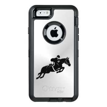 Equestrian Jumper Otterbox Defender Iphone Case by kahmier at Zazzle