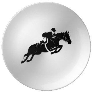 Equestrian Jumper Porcelain Plate