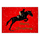 Equestrian Jumpin Great Christmas Card