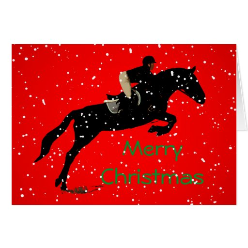 Equestrian Jumpin Great Christmas Cards