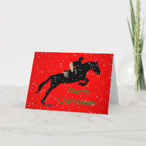 Equestrian Jumpin Great Christmas Holiday Card
